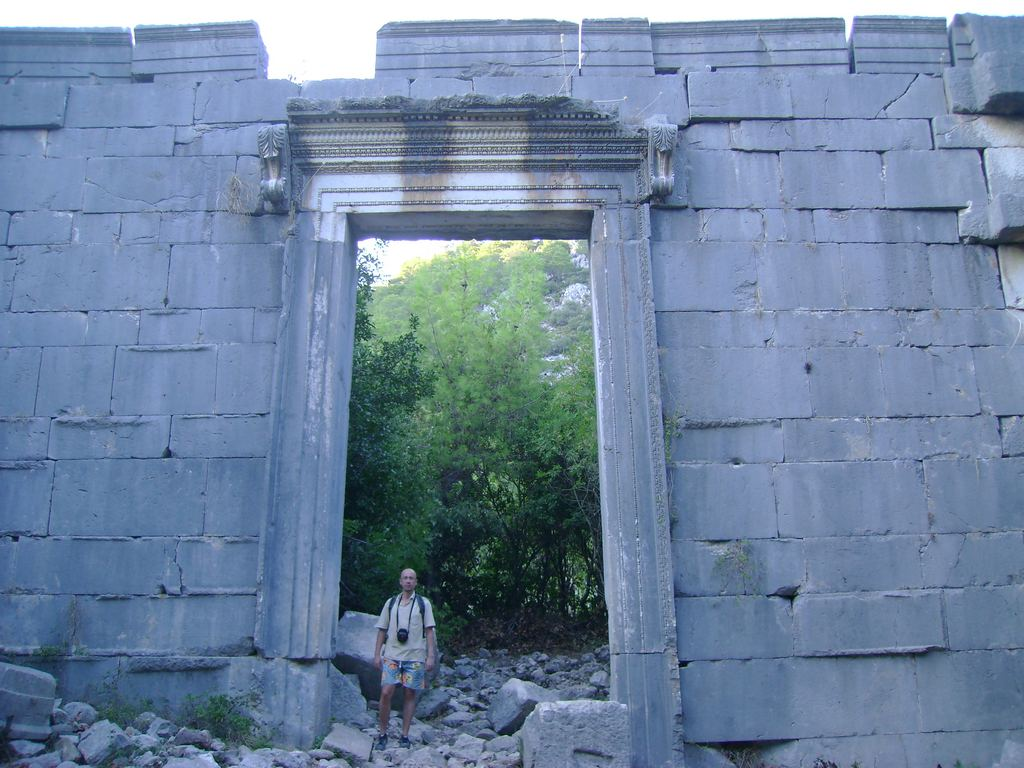 The Roman Temple in Olympos, Antalya, Turkey