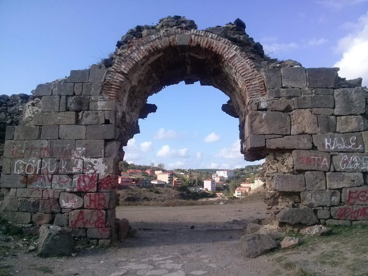 The Genoese castle in Rumeli Feneri, Istanbul - City of ...