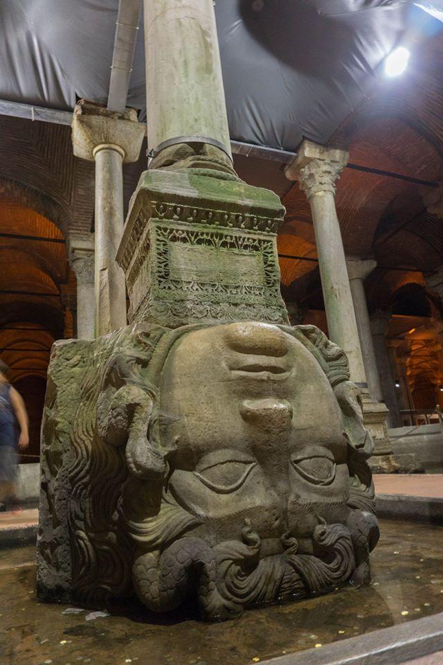 Medusa, Basilica Cistern, Istanbul (September 2016)